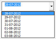 Date format in an Excel VBA ComboBox or ListBox