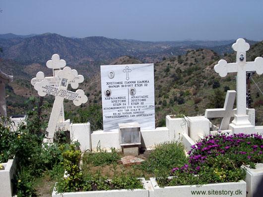 Gravstene i Fikardou på Cypern