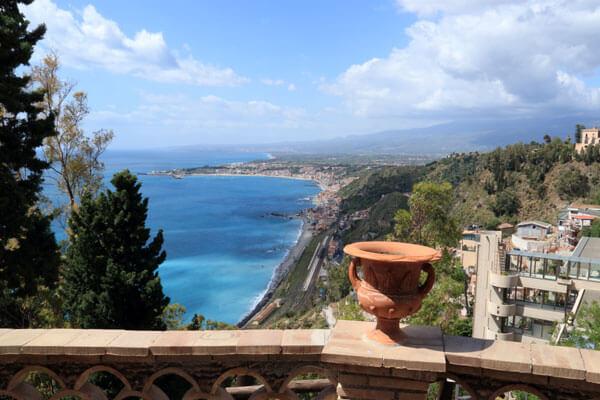 Udsigt fra Taormina